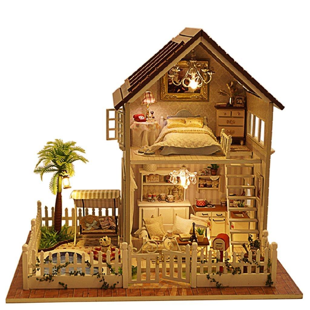 Trang trí ngôi nhà búp bê với những vật liệu hàng ngày