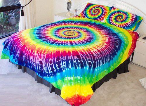 ga trải giường màu loang