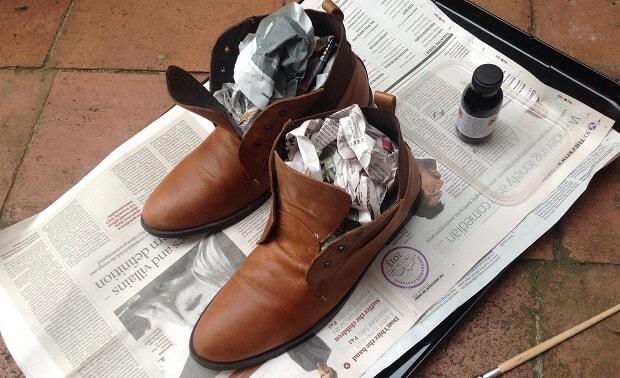 phục hồi giầy da bị rạn