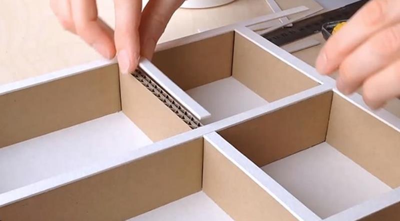 bìa giấy carton làm mô hình