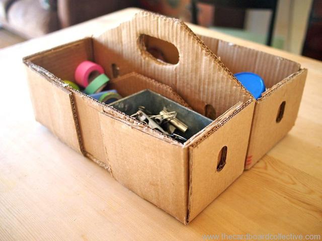 bìa giấy carton làm hộp chứa đồ