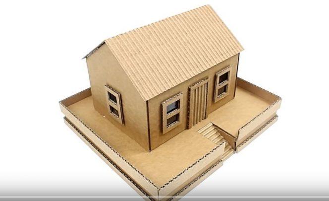 bìa giấy carton làm mô hình nhà
