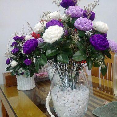 bình hoa giấy nhún