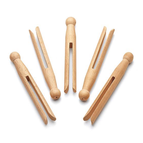 kẹp gỗ thủ công trang trí