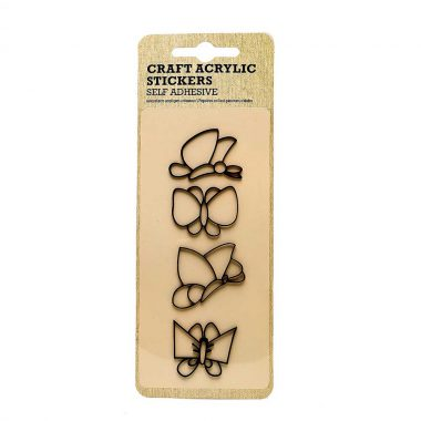 miếng dán sticker acrylic bướm