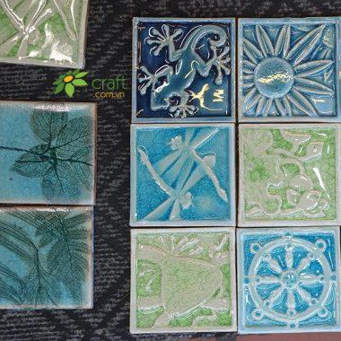 tranh gốm ốp tường kiểu mosaic