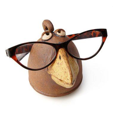 tượng gốm làm giá giữ kính mắt